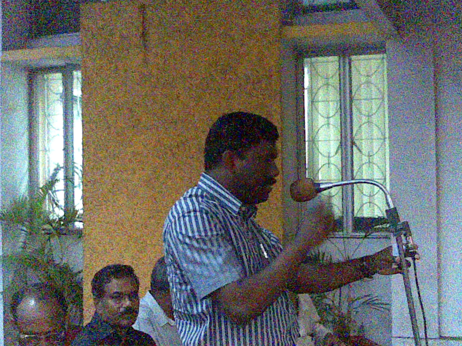 Hon. M.P. Com. P.K. Biju addressing